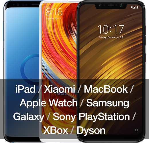 Купить Xiaomi / MacBook / Apple Watch / Samsung Galaxy / Sony PlayStation / XBox / Dyson
